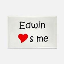 Funny Edwin Rectangle Magnet