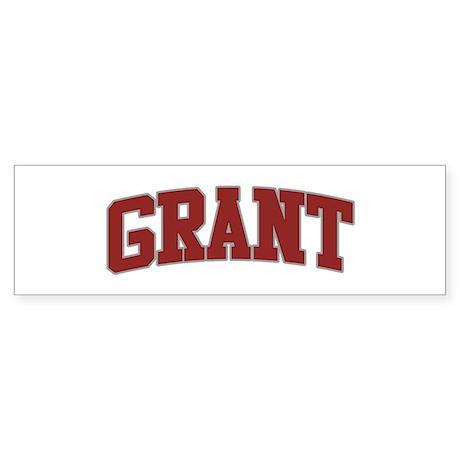 GRANT Design Bumper Sticker