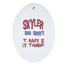 Skyler - Stole My Thunder Oval Ornament