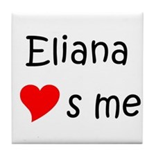 Cute Eliana Tile Coaster