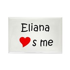 Cute Eliana Rectangle Magnet