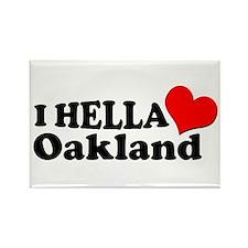 I HELLA LOVE / HEART OAKLAND Rectangle Magnet