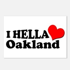 I HELLA LOVE / HEART OAKLAND Postcards (Package of