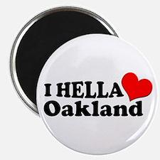 I HELLA LOVE / HEART OAKLAND Magnet