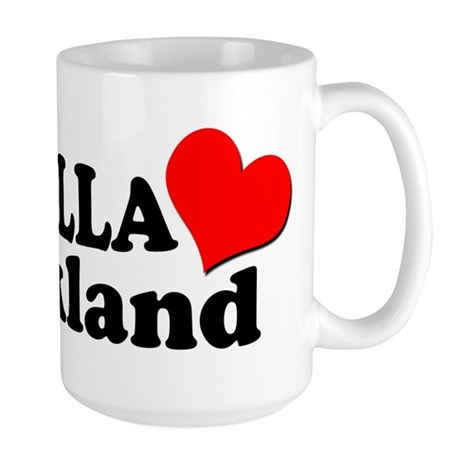 I HELLA LOVE / HEART OAKLAND Large Mug