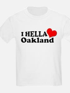 I HELLA LOVE / HEART OAKLAND T-Shirt
