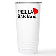 I HELLA LOVE / HEART OAKLAND Travel Mug