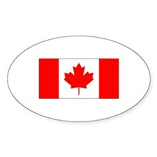 Canadian Oval Bumper Stickers