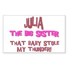 Julia - Stole My Thunder Rectangle Decal