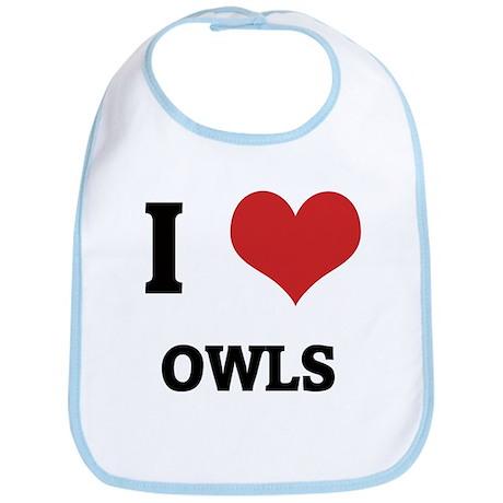 I Love Owls Bib