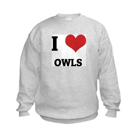 I Love Owls Kids Sweatshirt