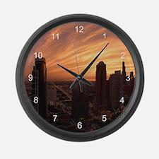 Chicago Twilight Large Wall Clock