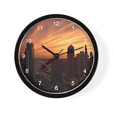 Chicago Twilight Wall Clock