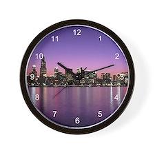 Chicago Nitetime Skyline Wall Clock