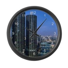 Chicago River Large Wall Clock