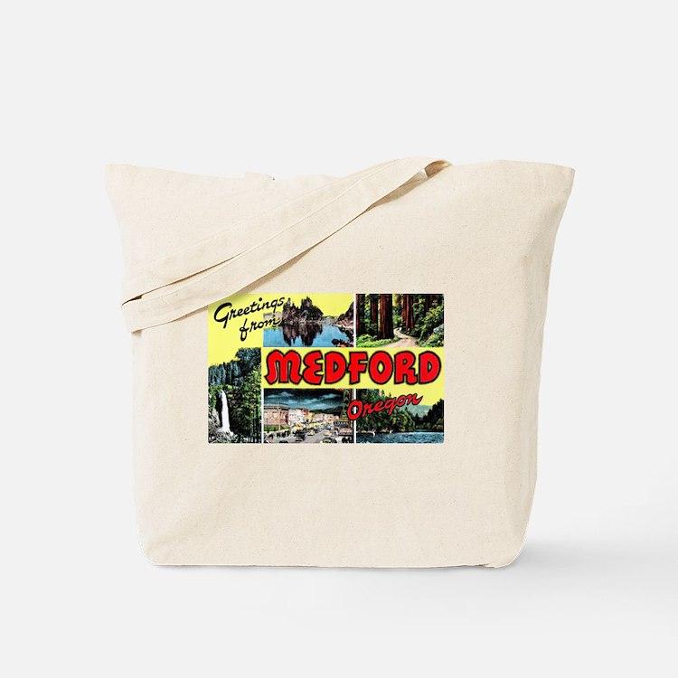 Medford Oregon Greetings Tote Bag