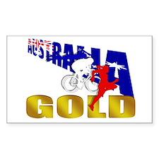 Australia traithlon Gold Winn Rectangle Decal