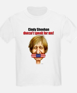 Cindy Sheehan doesn't speak f Kids T-Shirt