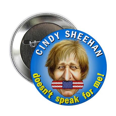 "Cindy Sheehan doesn't speak f 2.25"" Button (10 pac"