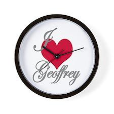 I love (heart) Geoffrey Wall Clock