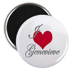 I love (heart) Genevieve Magnet