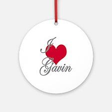 I love (heart) Gavin Ornament (Round)
