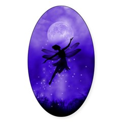Faery Flight Oval Sticker (10 pk)