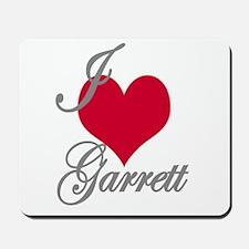 I love (heart) Garrett Mousepad