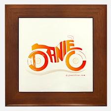 Daniel Orange and Red Bike Framed Tile