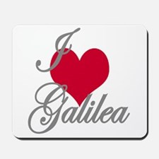 I love (heart) Galilea Mousepad