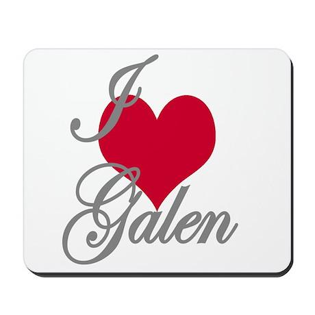 I love (heart) Galen Mousepad