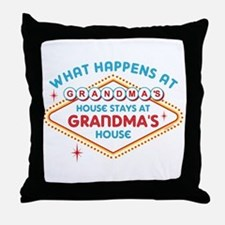 Las Vegas Stays At Grandma's Throw Pillow