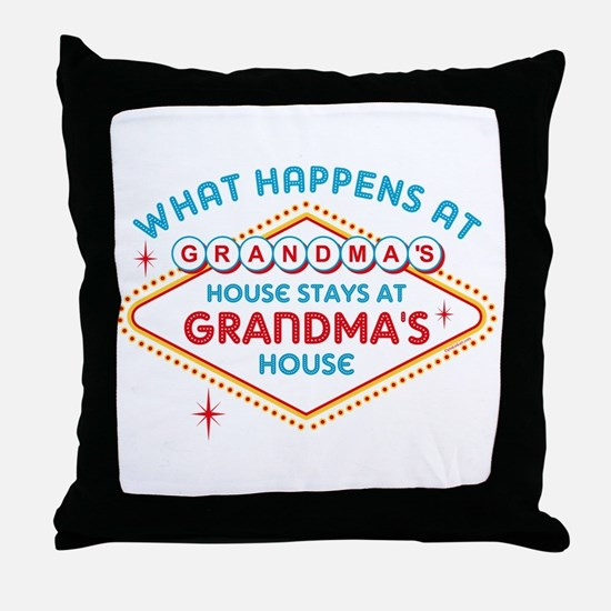 Las Vegas Stays At Grandma's Throw Pillow