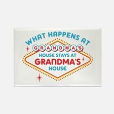 Las Vegas Stays At Grandma's Rectangle Magnet