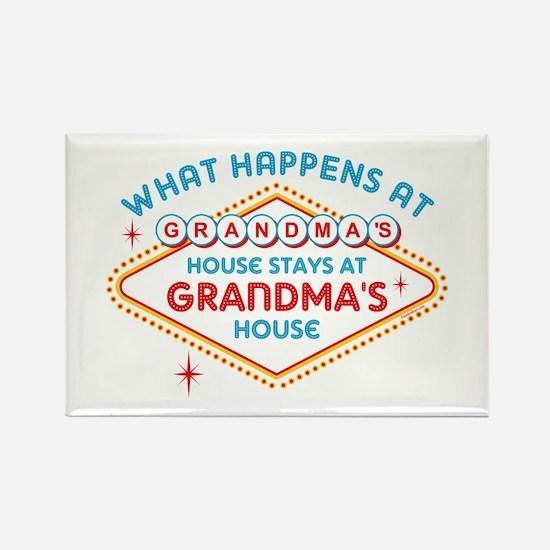 Las Vegas Stays At Grandma's Rectangle Magnet