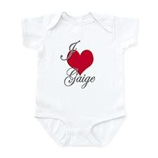 I love (heart) Gaige Infant Bodysuit