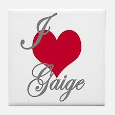 I love (heart) Gaige Tile Coaster