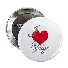 "I love (heart) Gaige 2.25"" Button"