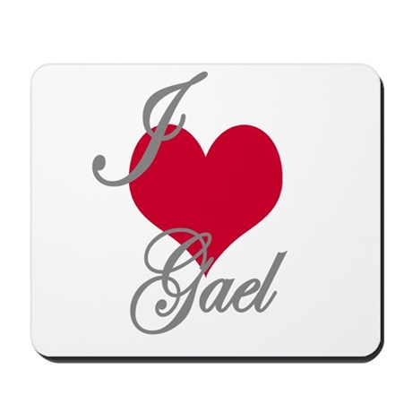 I love (heart) Gael Mousepad