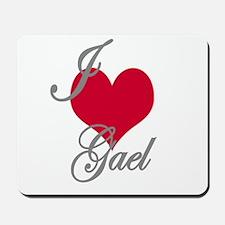 I love (heart) Gael Mousepad