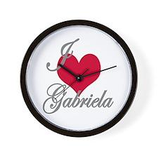 I love (heart) Gabriela Wall Clock