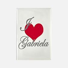 I love (heart) Gabriela Rectangle Magnet