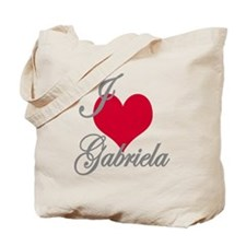 I love (heart) Gabriela Tote Bag