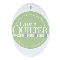 I am a Quilter Oval Ornament