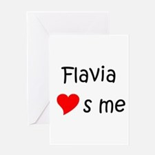 Cool Flavia Greeting Card