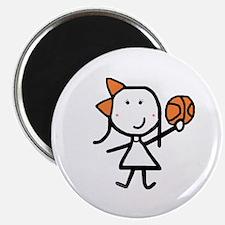 """Girl & Basketball 2.25"""" Magnet (10 pack)"""