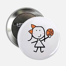 "Girl & Basketball 2.25"" Button (10 pack)"