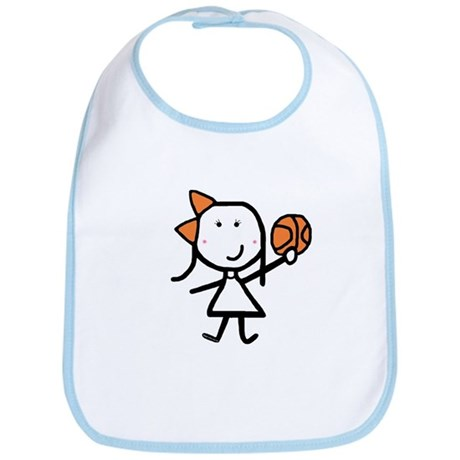 Girl & Basketball Bib