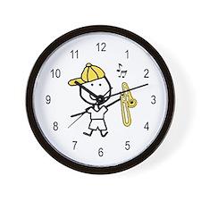 Boy & Trombone Wall Clock