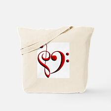 Clef Heart Tote Bag